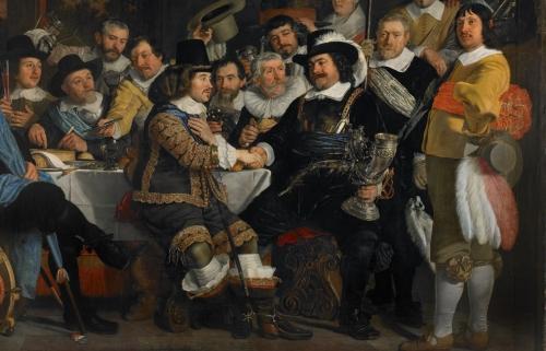 Schuttersmaaltijd, 1648, detail