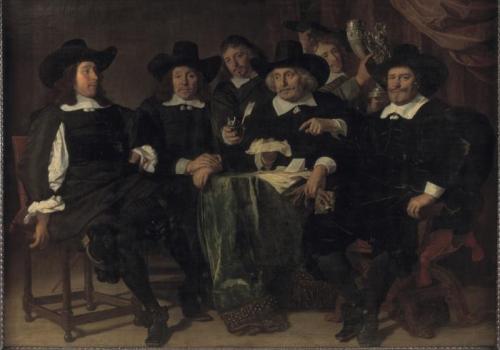 De overlieden van de Voetboogdoelen, 1656, Amsterdams Historisch Museum
