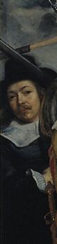 Zelfportret, detail schuttersstuk Amsterdam, Rijksmuseum